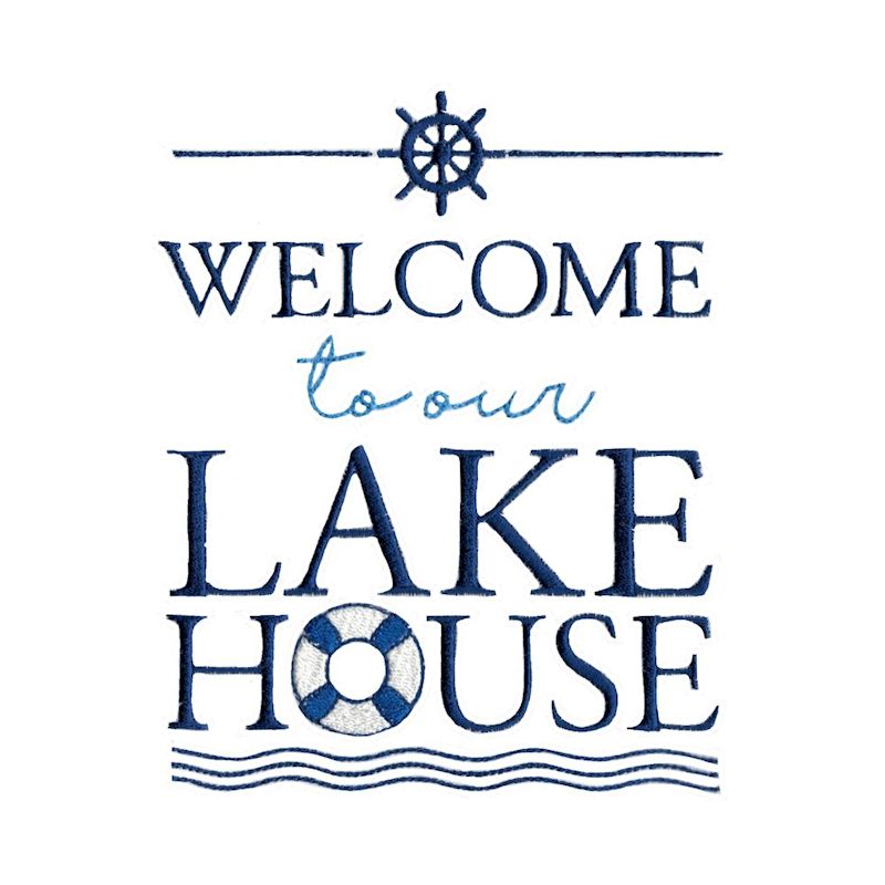 Lake House - 15 Machine Embroidery Designs example image 10