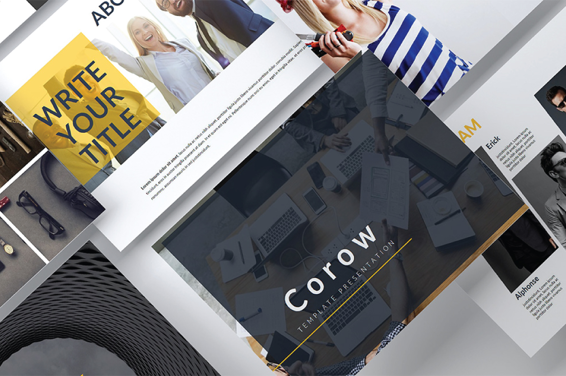 Corow Keynote Template example image 1