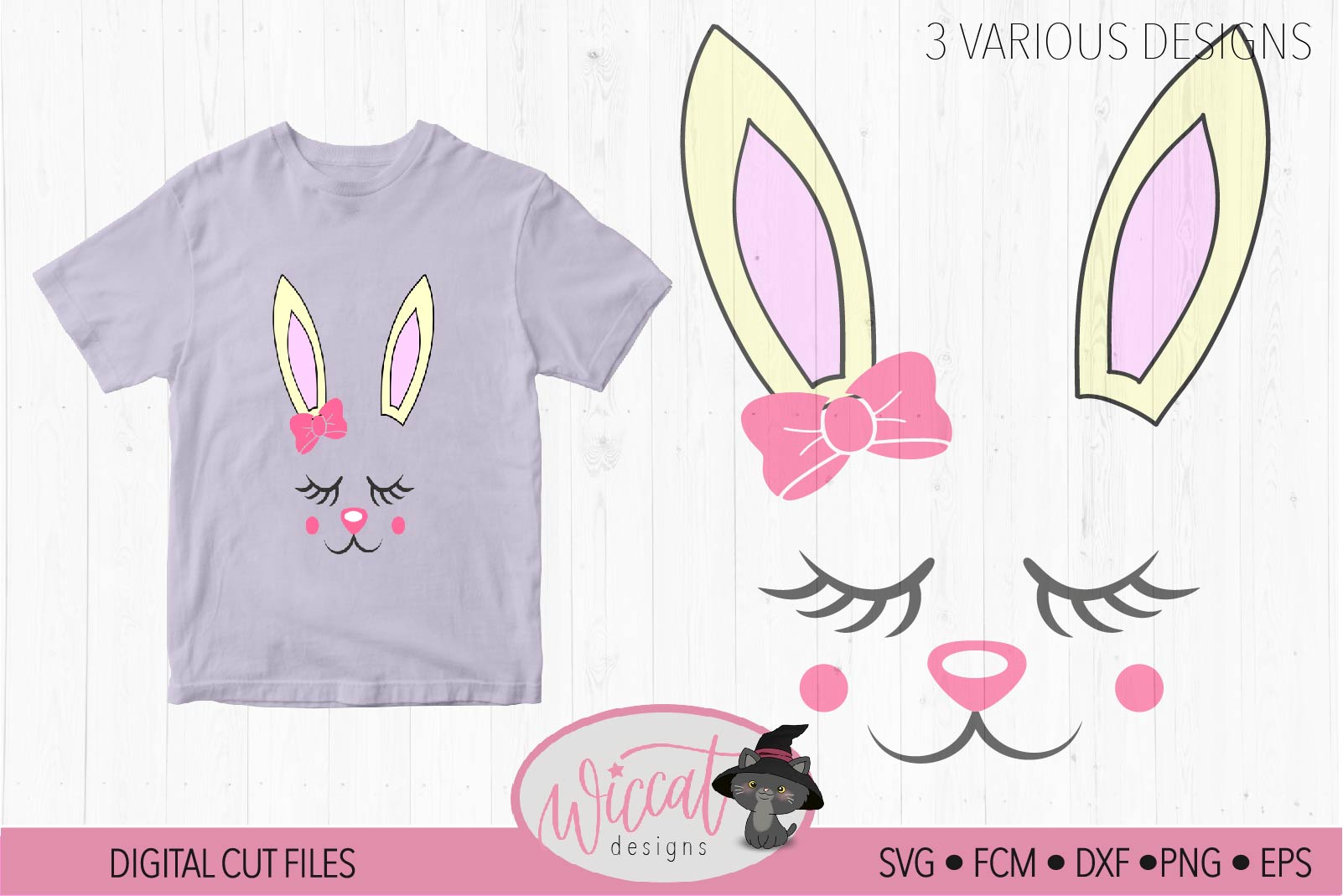 Easter bunny, Bunny svg, Bunny face svg, Girl bunny face svg example image 1
