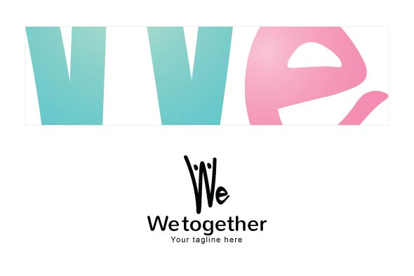 We Together Stock Logo Template example image 3