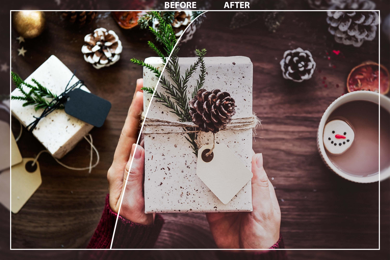 62 Christmas Mobile Lightroom Presets, X-mas Adobe LR preset example image 6