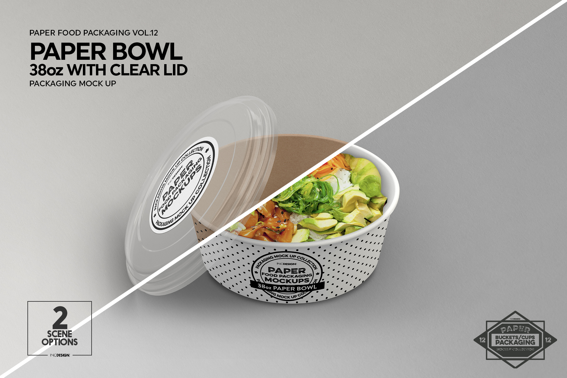 VOL.12 Food Box Packaging MockUps example image 3