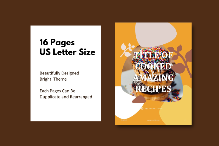 16 Pages Recipe eBook Template bakery powerpoint template example image 4