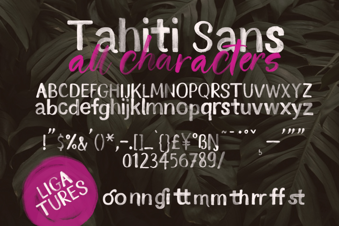 Tahiti Sand. Fonts and Graphics. example image 21