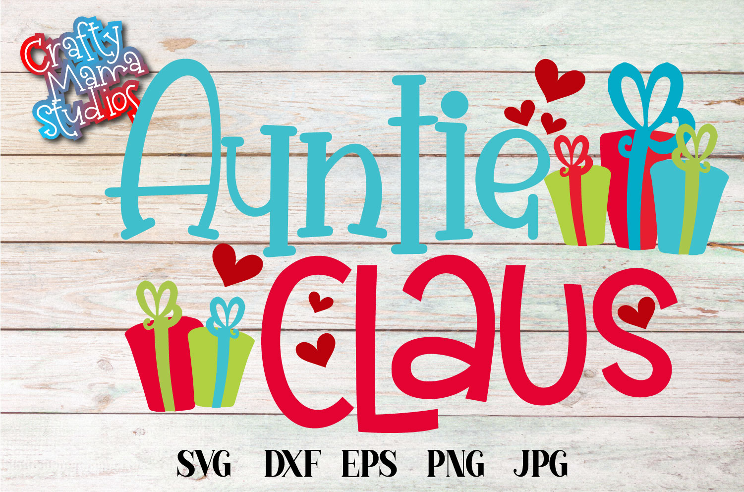 Auntie Claus SVG, Santa Claus Christmas Sublimation example image 2
