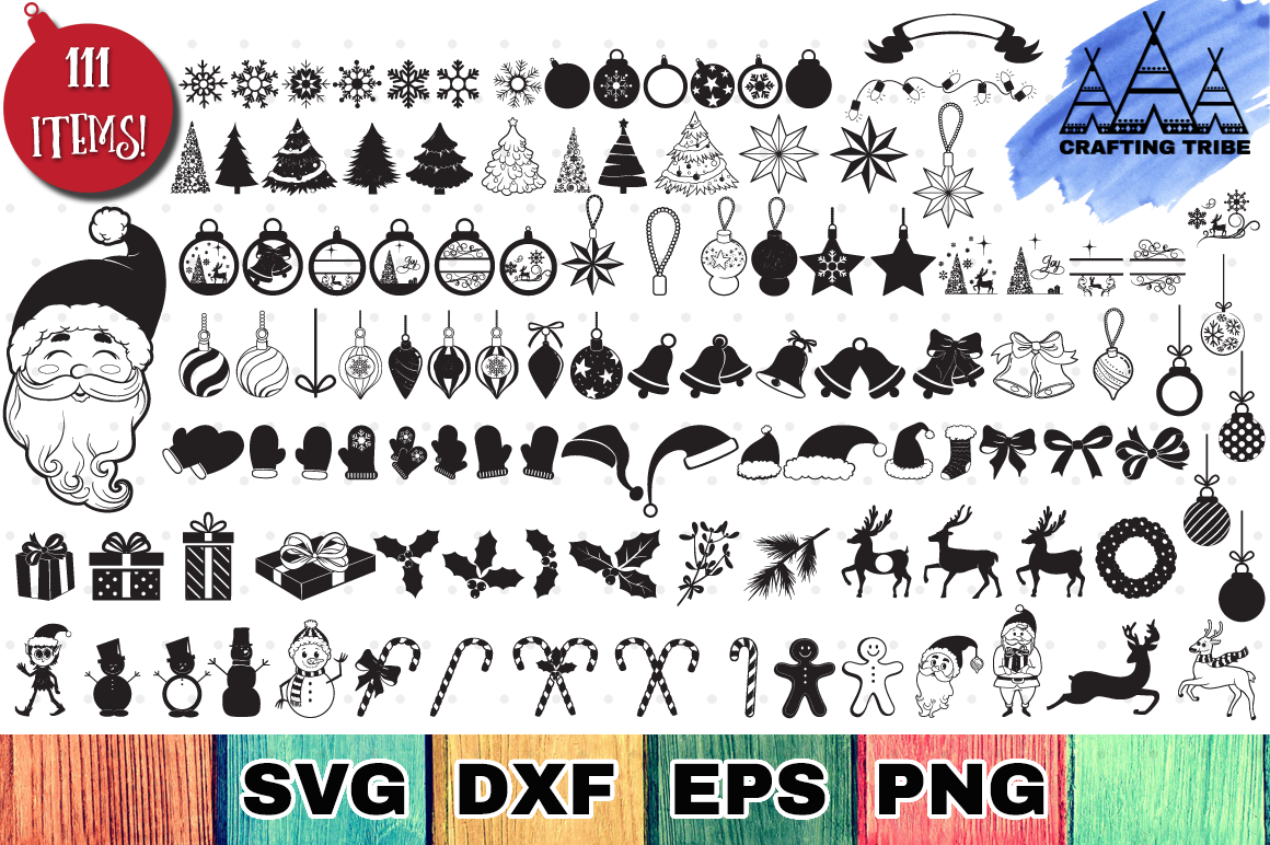 The Huge Christmas SVG Bundle with 111 Cut Files example image 1