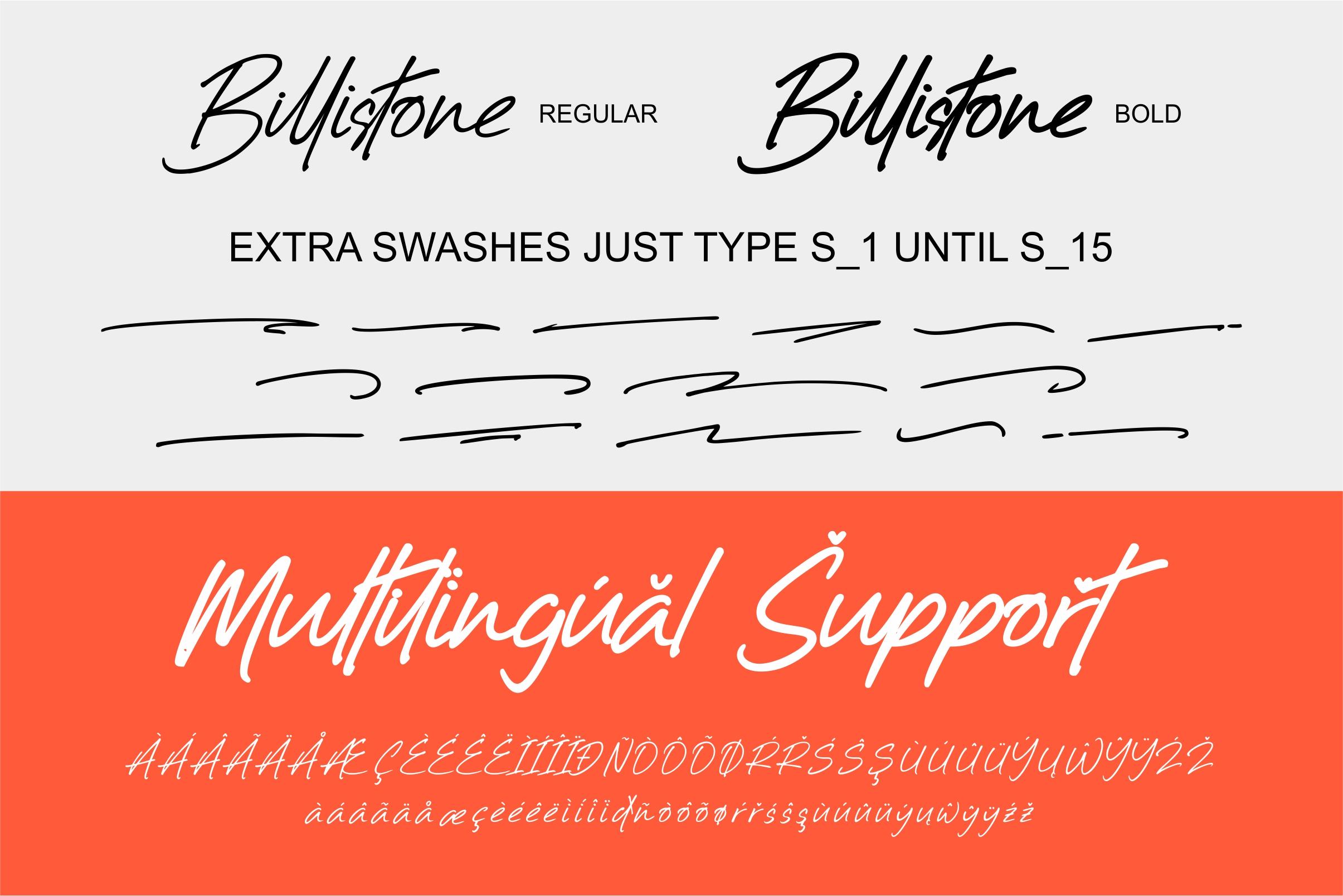 Billistone A Handwritten Font example image 10