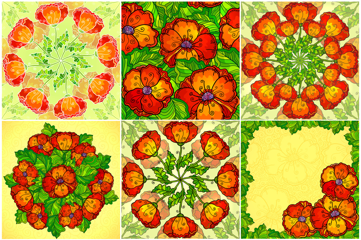 8 red poppy flowers backgrounds example image 3