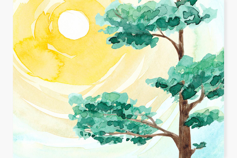 Landscape clipart Watercolor landscape constructor Nature example image 3