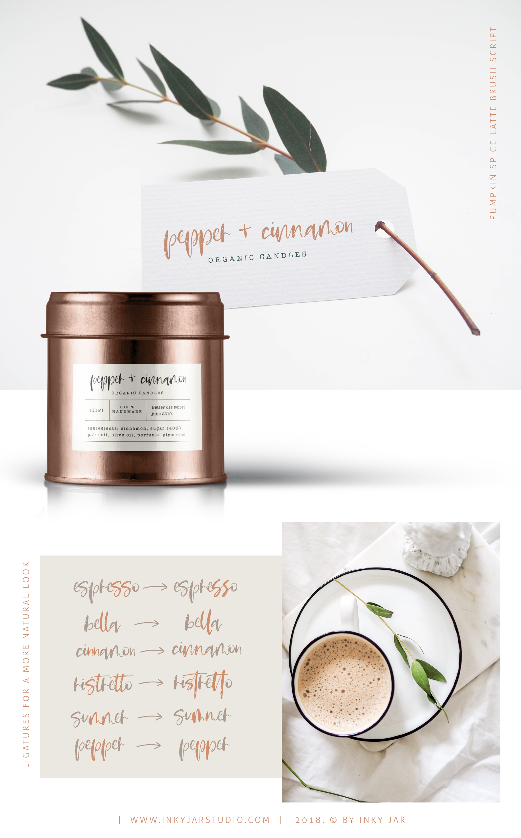 Pumpkin Spice Latte | Brush Script example image 3