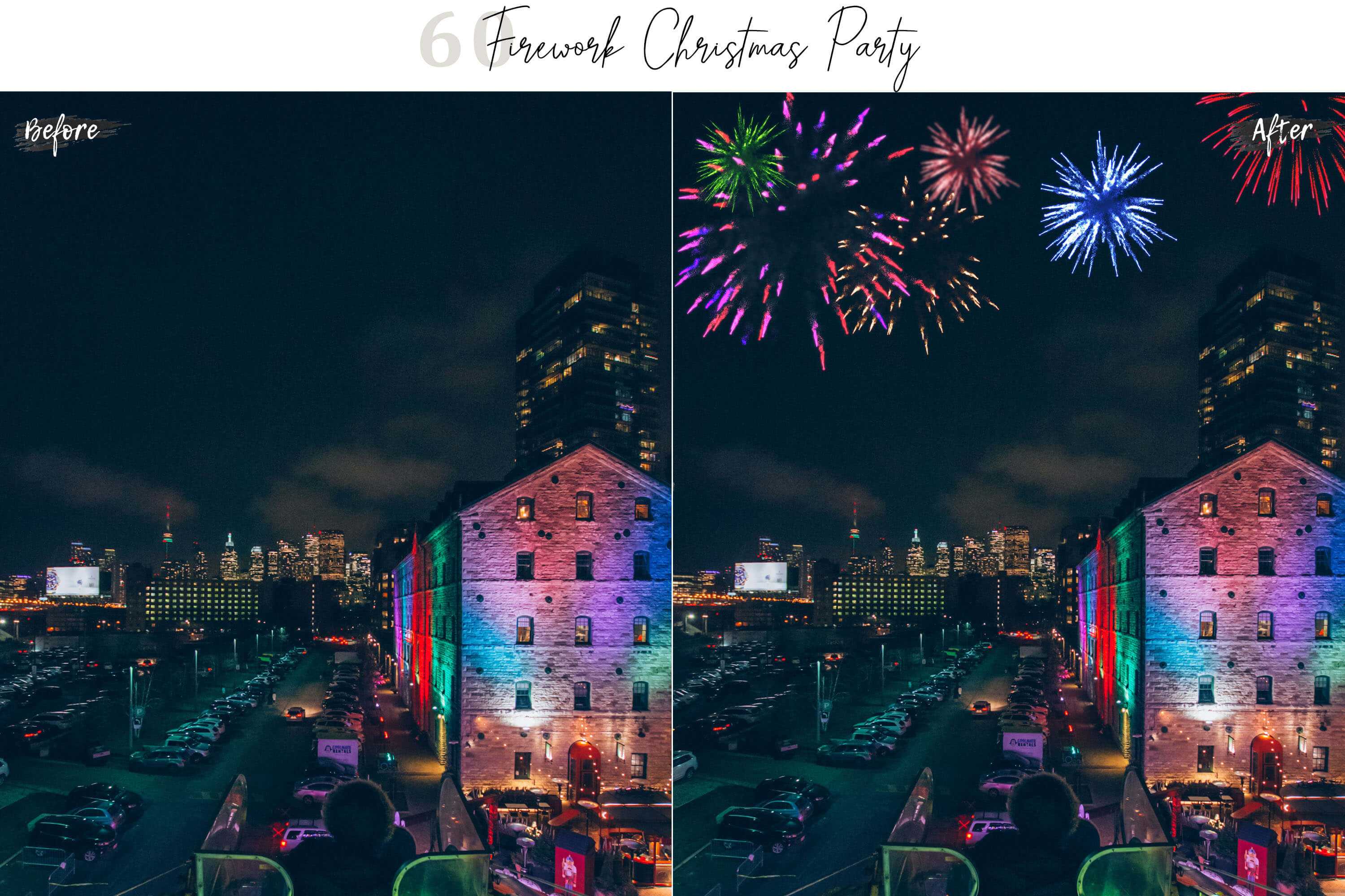 60 Firework Christmas Party Overlays example image 8