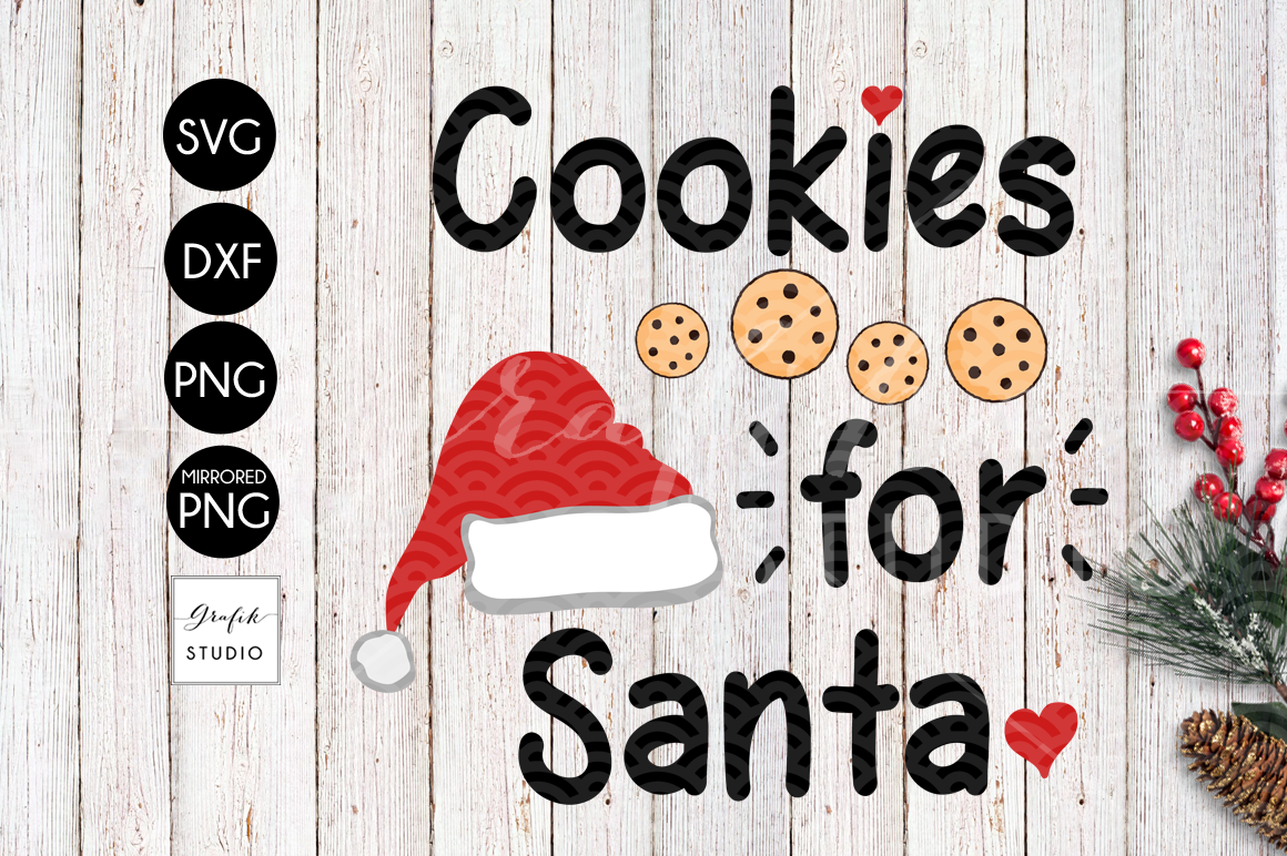 Cookies For Santa CHRISTMAS SVG Cutting File example image 2