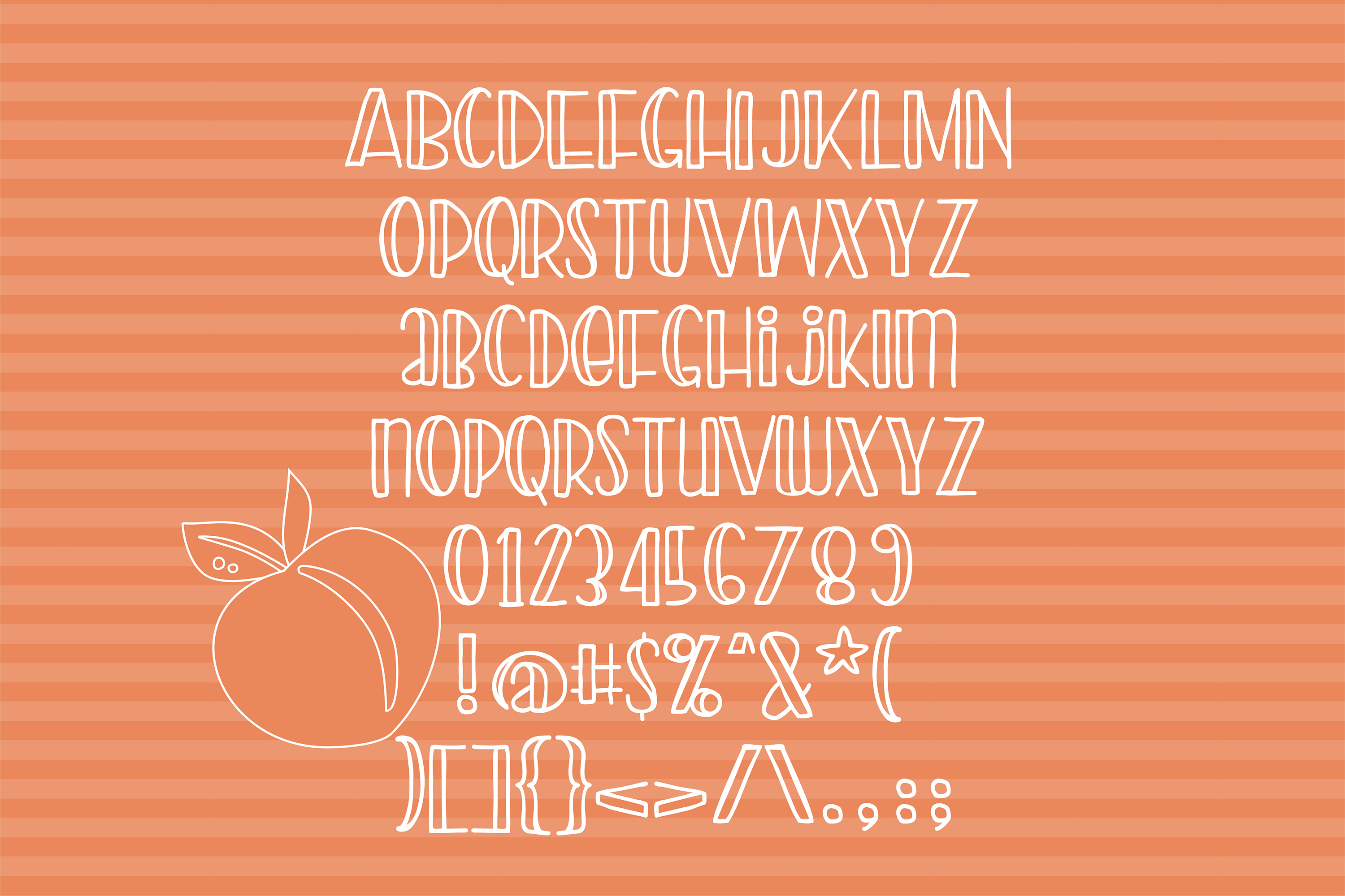 PN Peach Preserves Font Duo example image 2