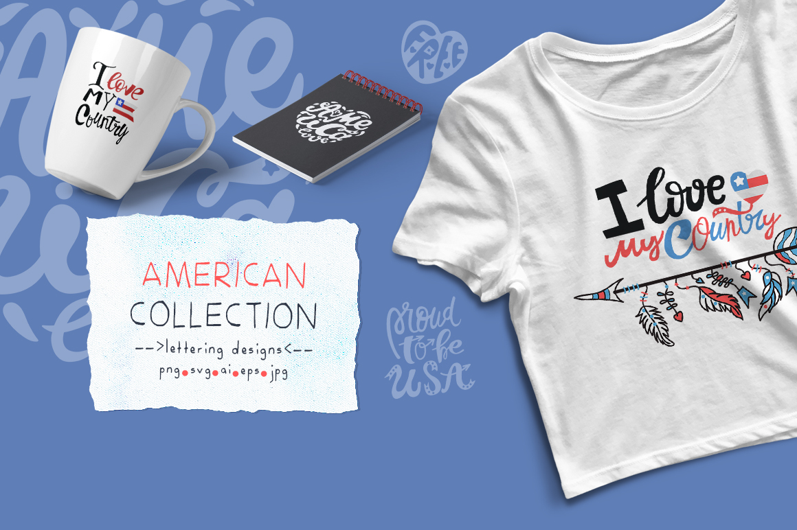 American Collection. Lettering. example image 1