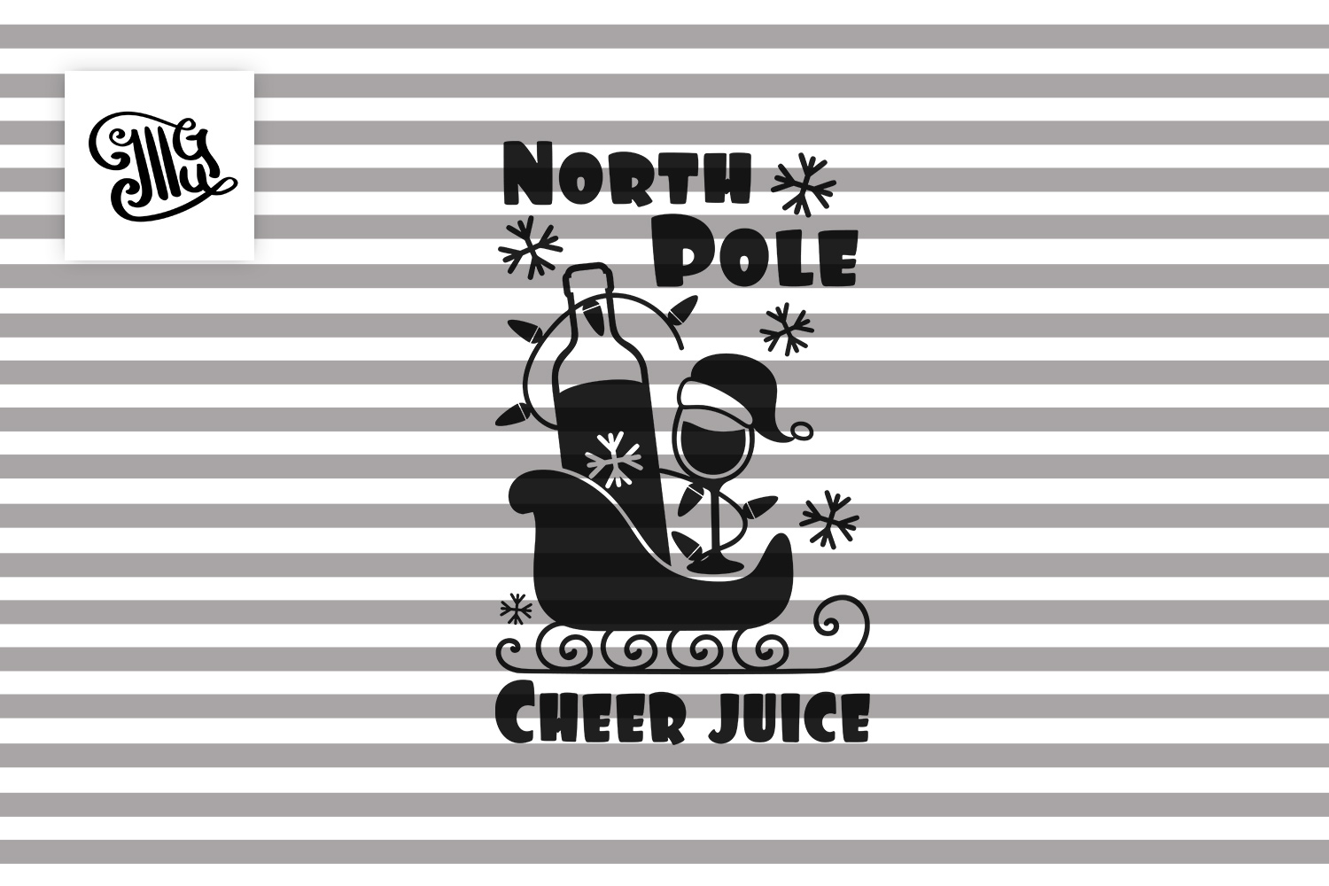 North Pole Cheer juice - Christmas wine example image 2