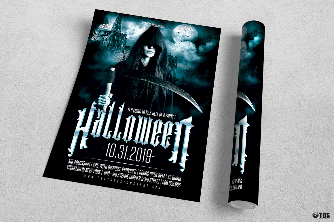 Halloween Flyer Template V8 example image 3