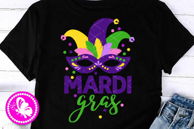 Mardi Gras svg Mask print Carnival cruise decor Feathers example image 1
