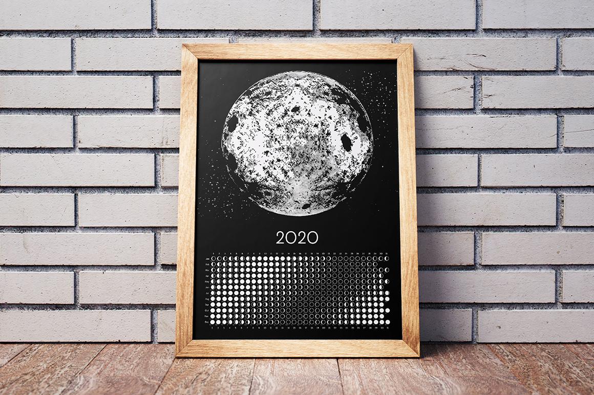 Moon Calendar 2020 Black & White example image 9