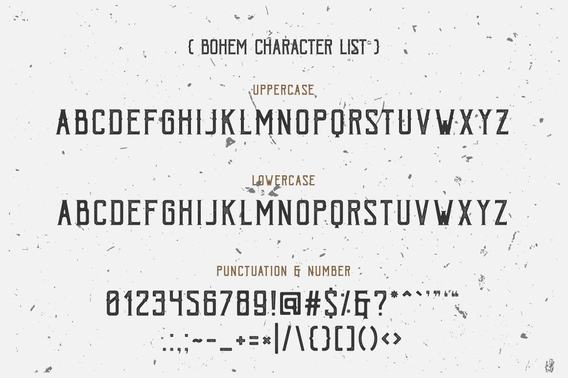Bohem Typeface - 5 Font Styles example image 6