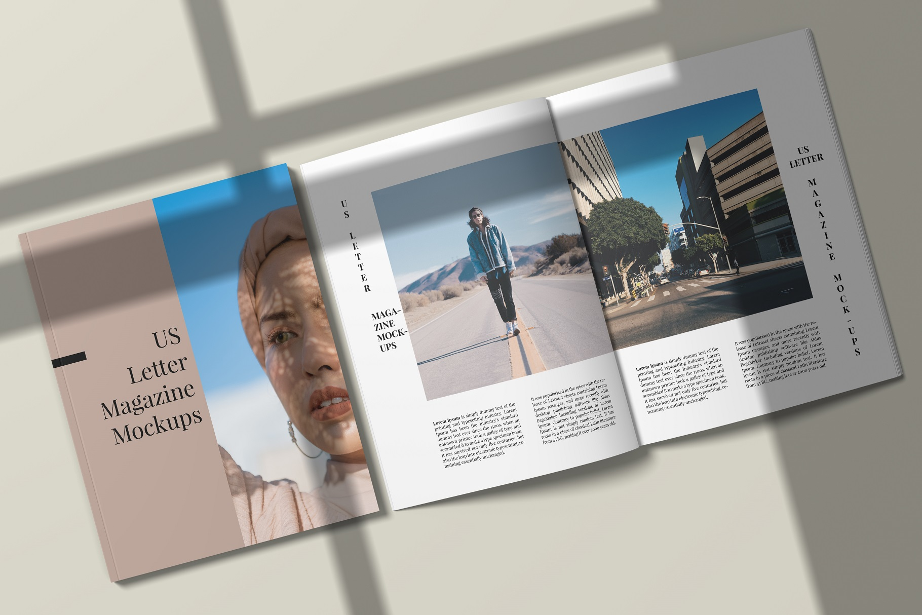 A4 and US Letter Magazines Mock-Ups example image 14