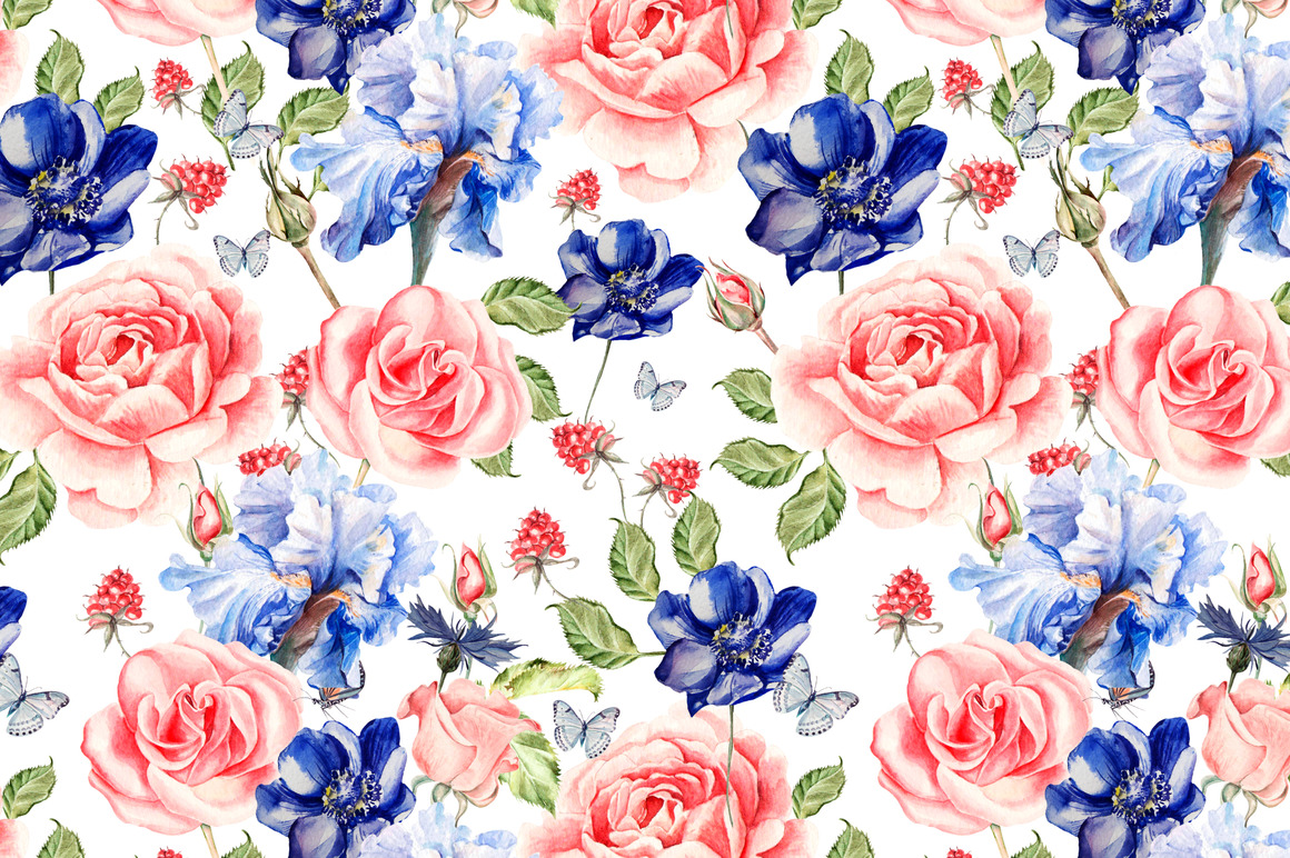 Hand Drawn Watercolor PATTERNS example image 7