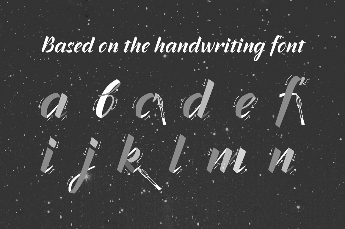 Inters—handwritten font example image 4