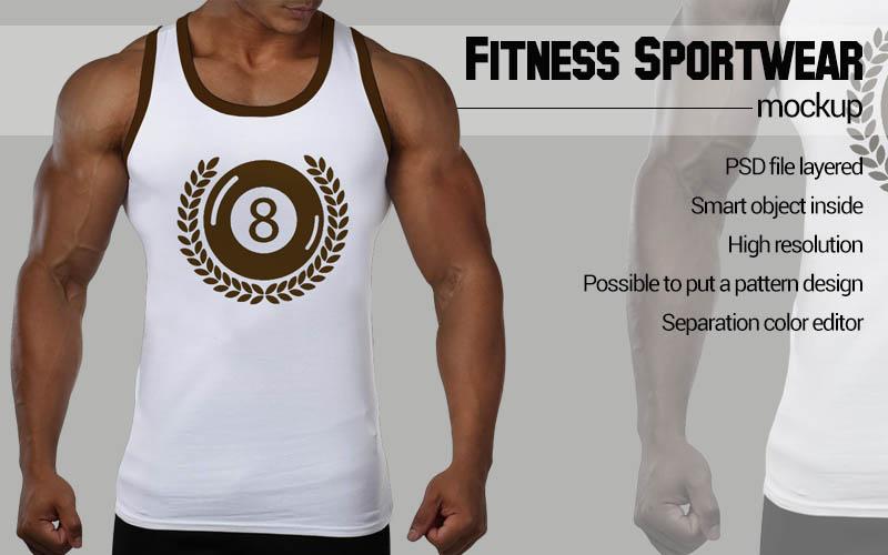 Black man Fitness Mockup example image 4