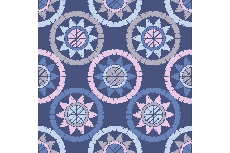 Polka dot ornament. Set of 10 seamless patterns. example image 3