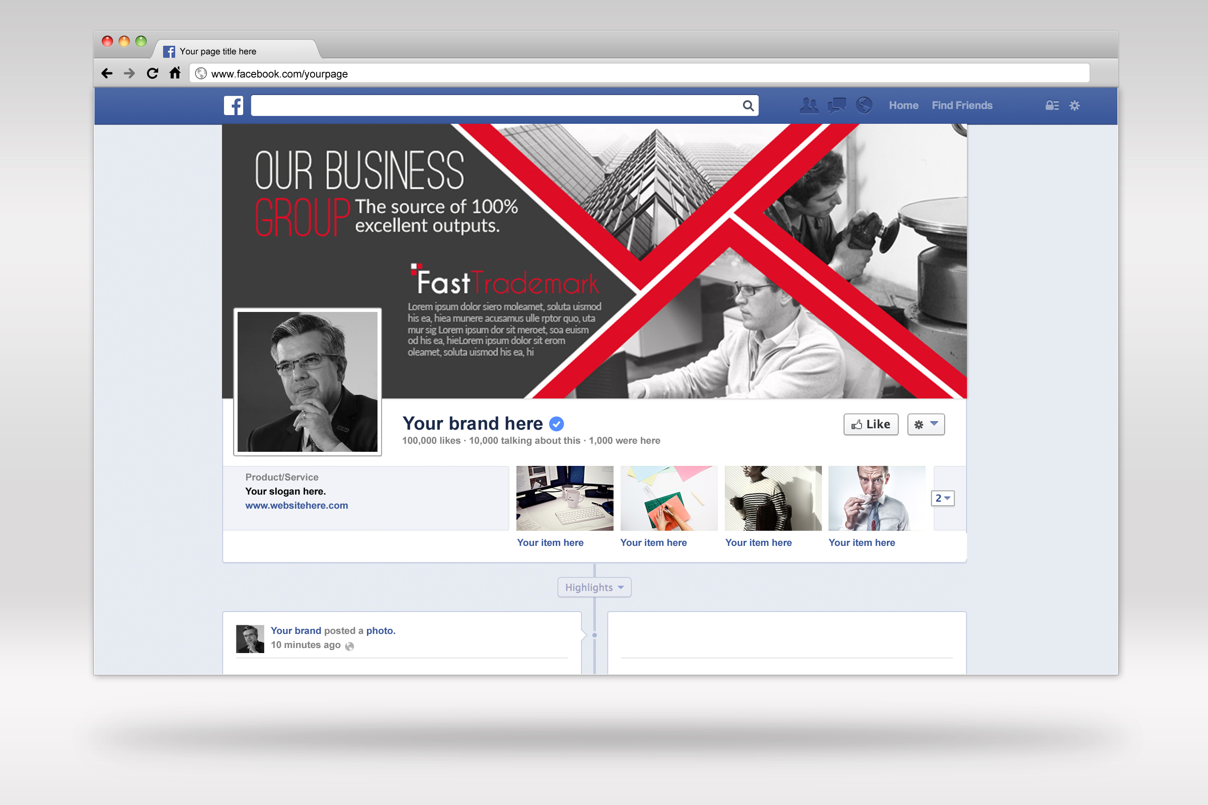 Business Facebook Timelines 06 example image 3