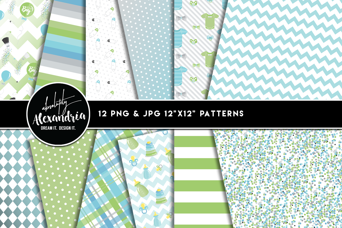 Baby Sprinkle Clipart Graphics & Digital Paper Patterns Bundle example image 2