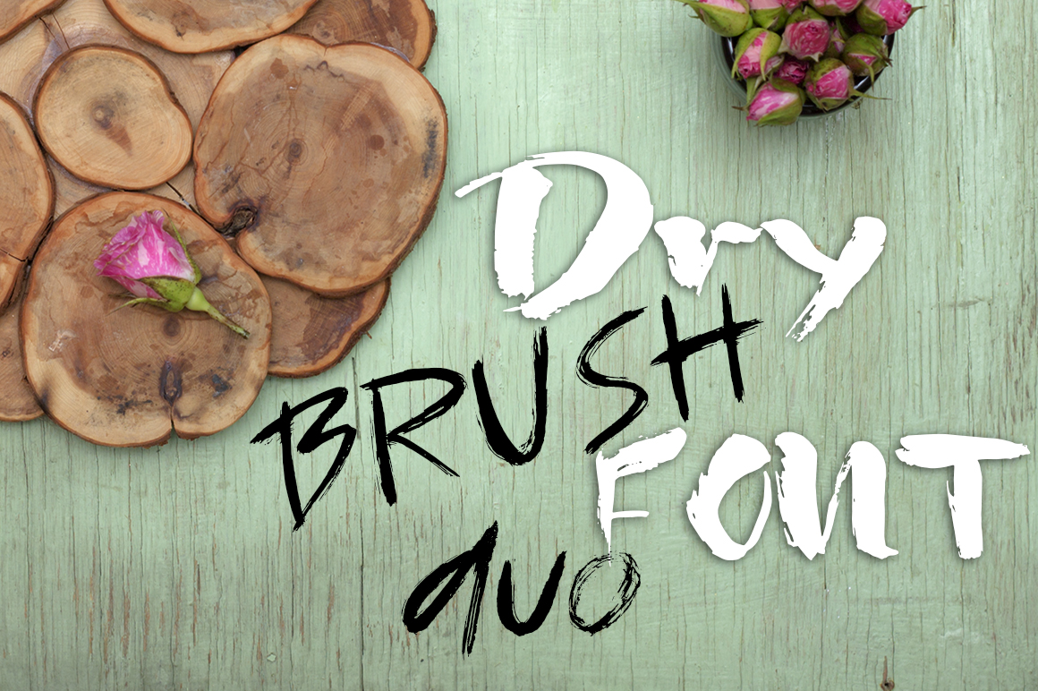 Grunge dry brush font duo example image 2
