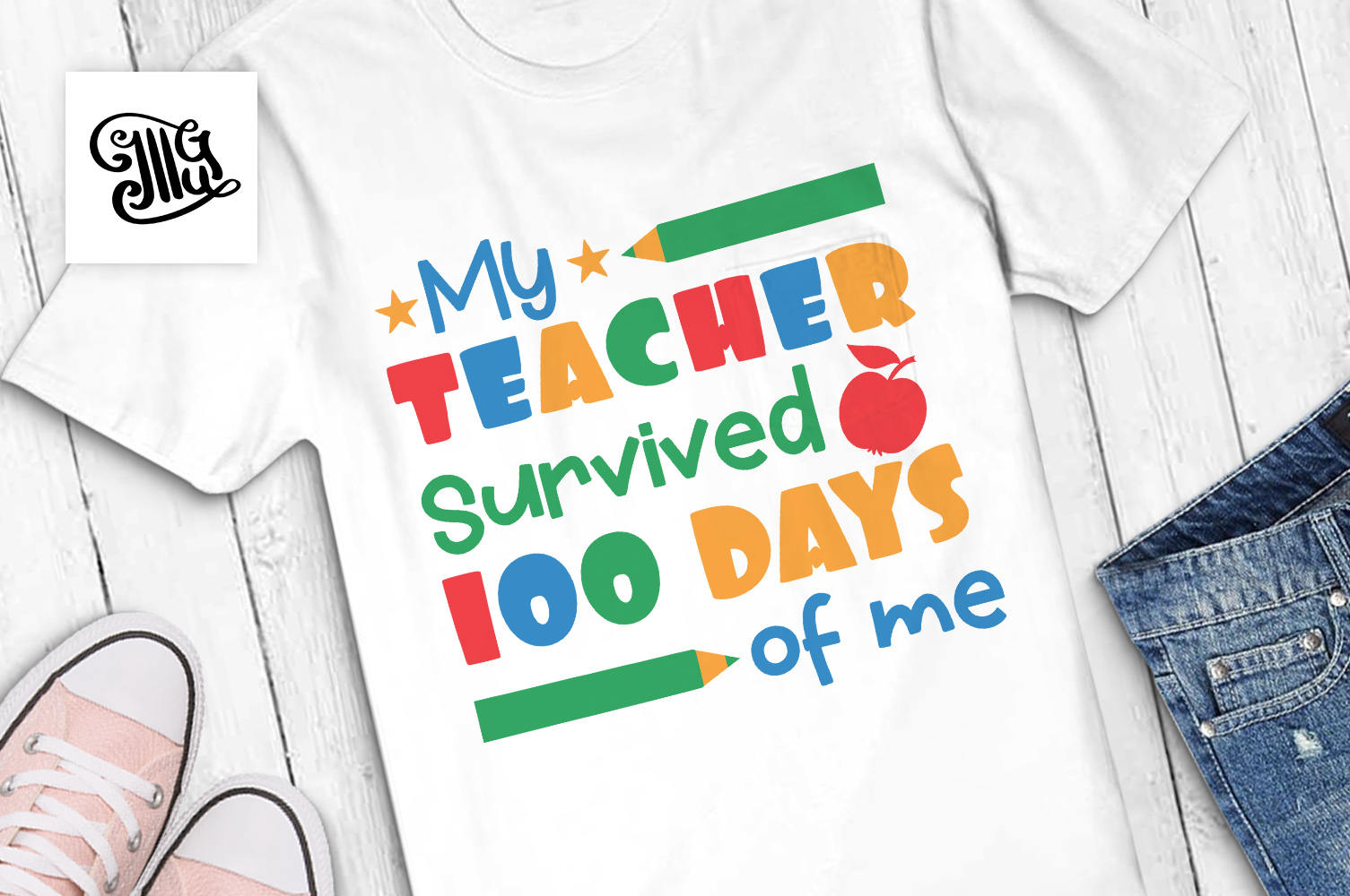 My teacher survived 100 days of me svg example image 1