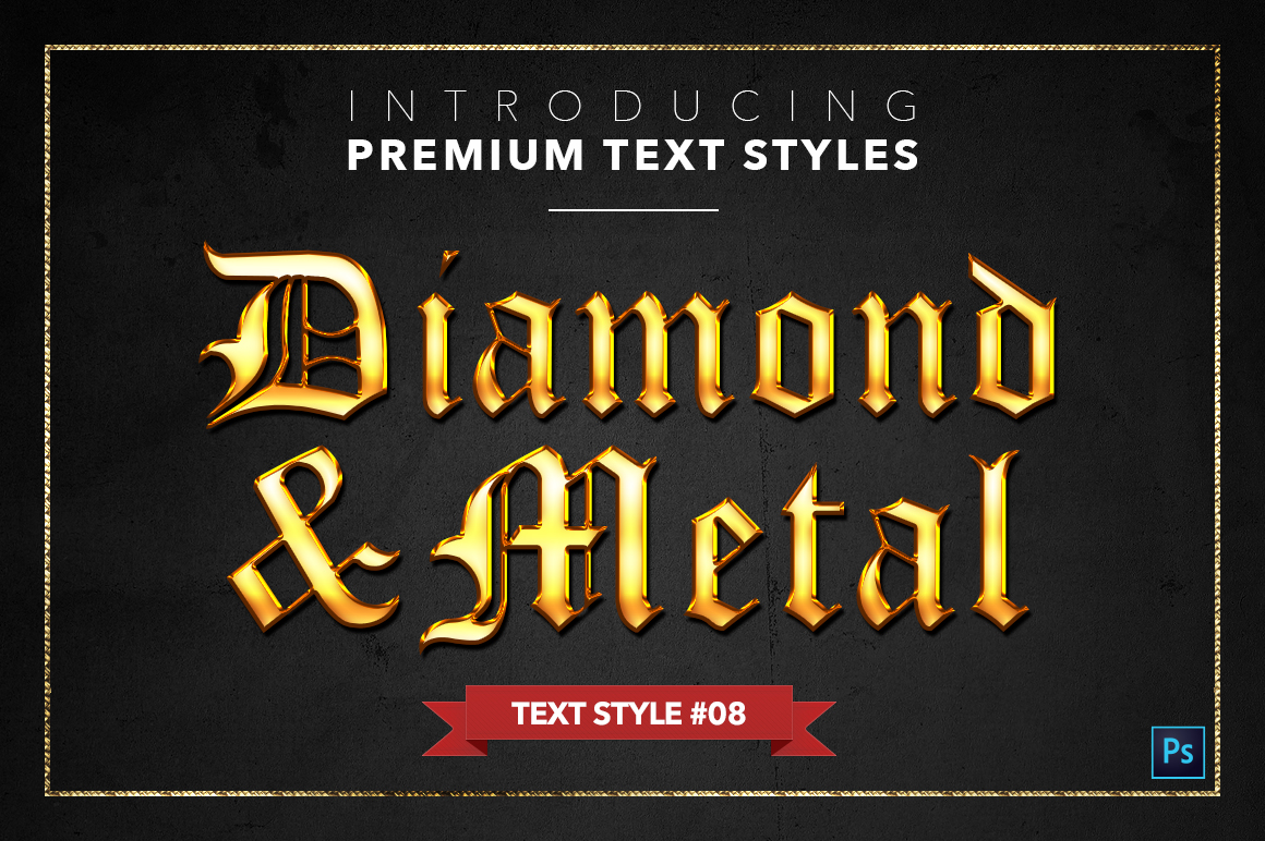Diamond & Metal #1 - 15 Text Styles example image 9