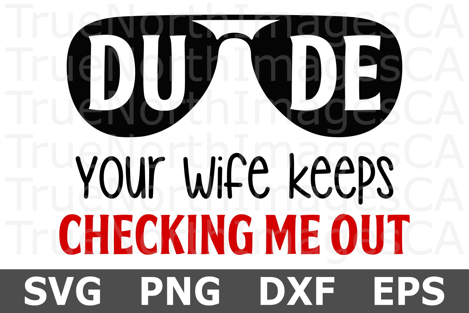Dude Your Wife Keeps Checking Me Out - A Baby SVG Cut File example image 2
