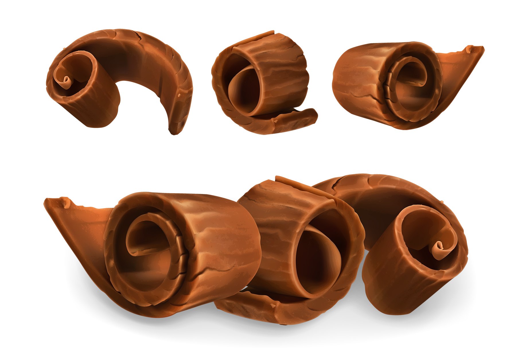 Chocolate bar, chocolate shavings, pieces, cocoa, vector set example image 4