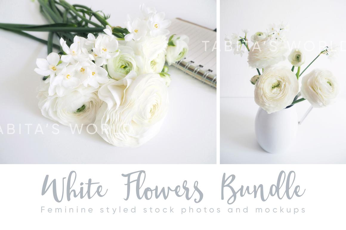 The White Flowers mock ups & photos bundle example image 5
