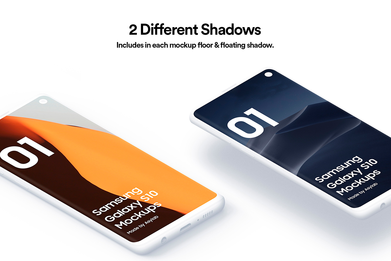 Samsung S10 - 21 Clay Mockups - 5K - PSD example image 5