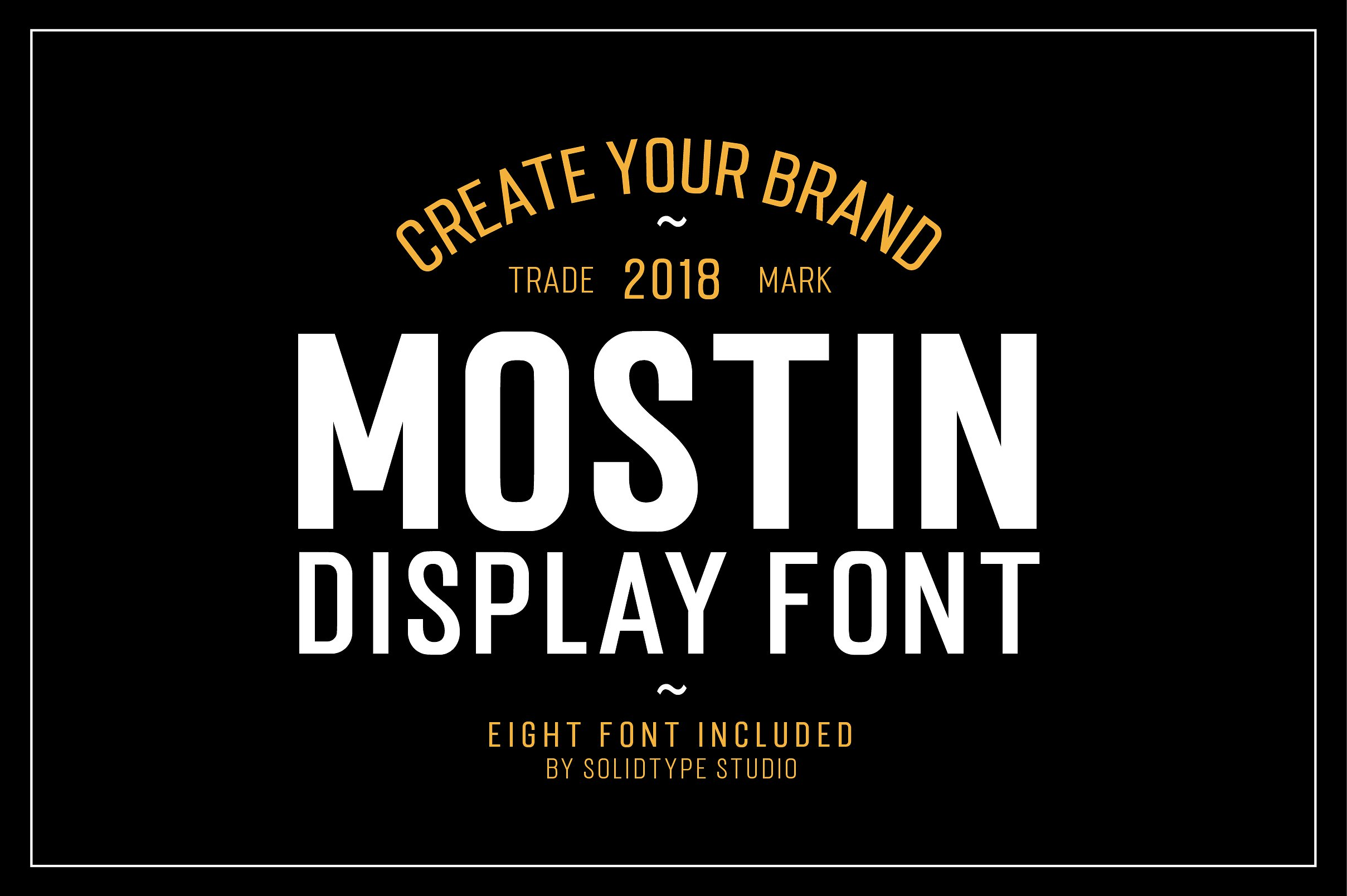 Mostin Typeface example image 7
