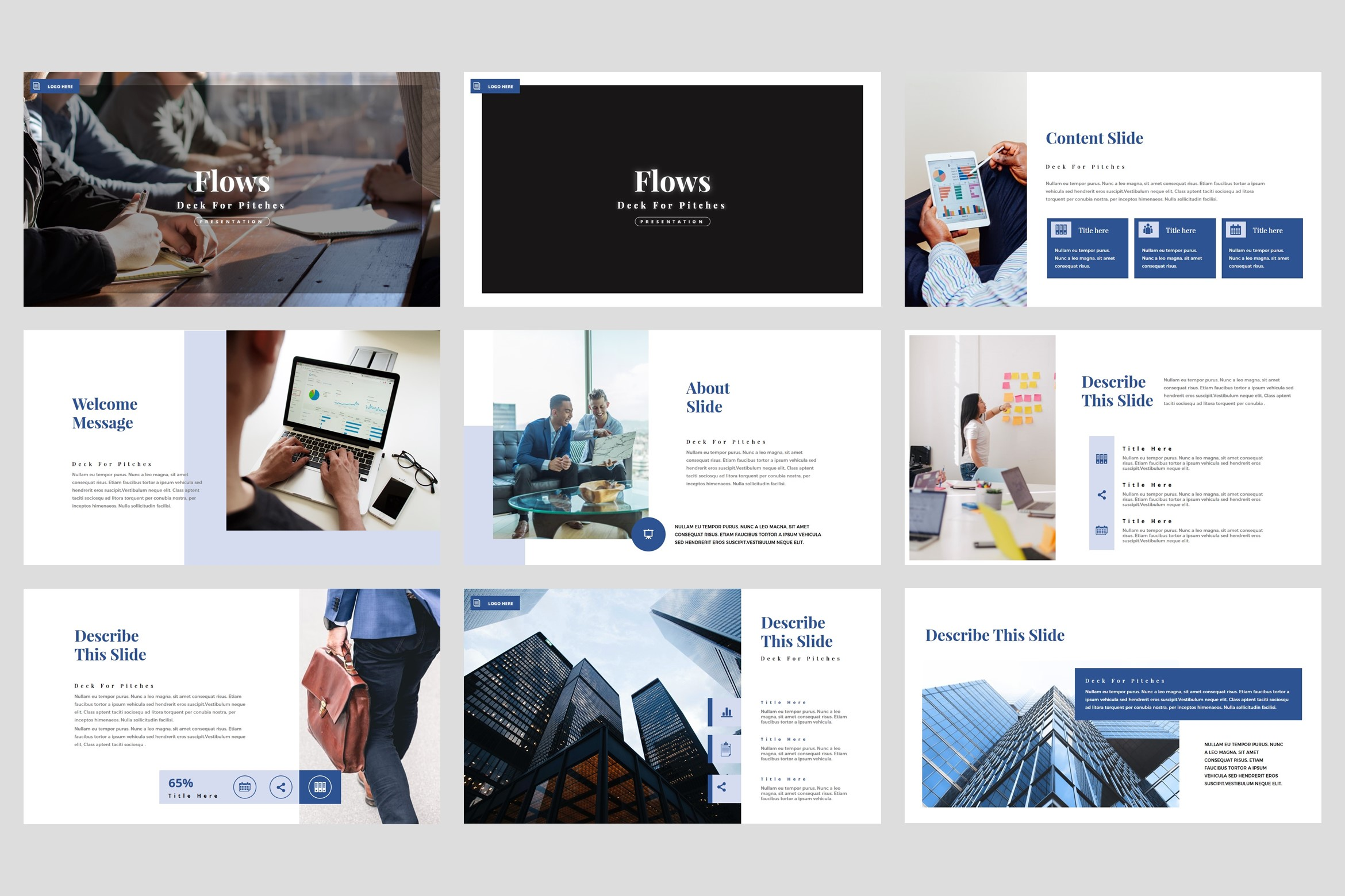 Flows - Pitch Deck PowerPoint Template example image 2