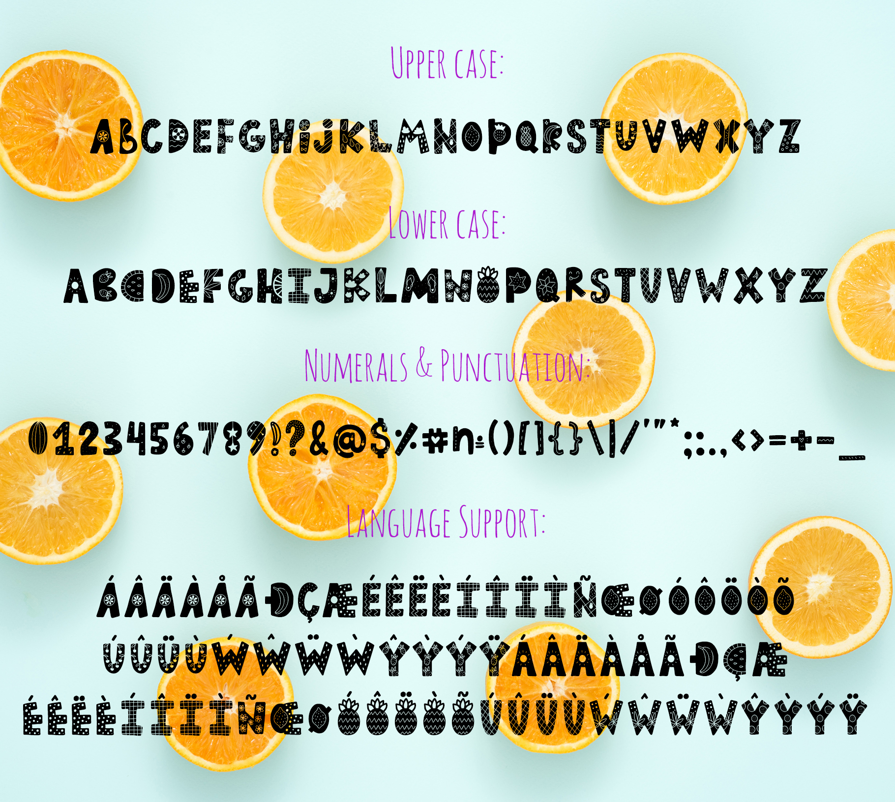 Summer Day Typeface with Clipart! example image 7