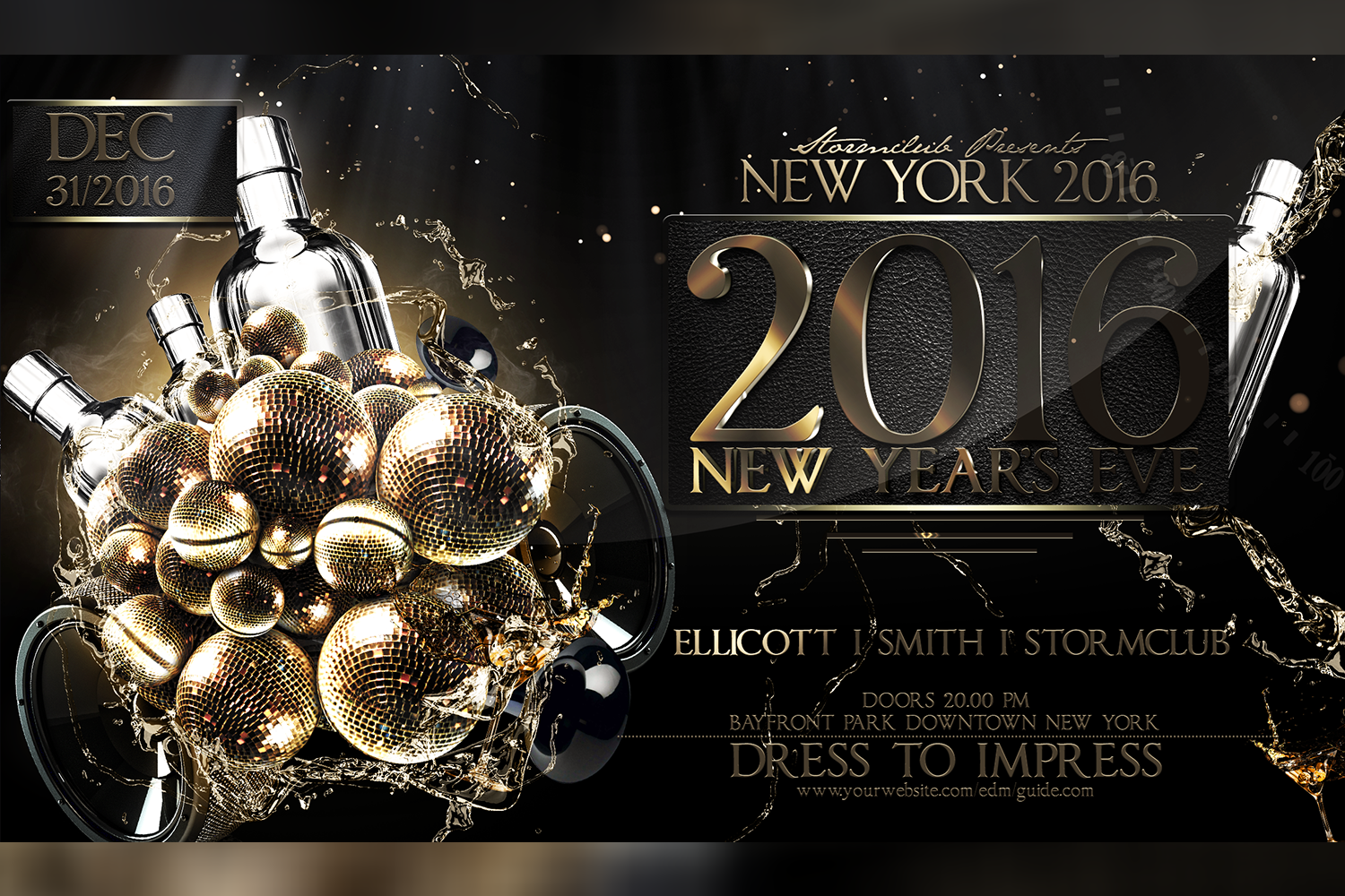 New Year Party Flyer example image 1