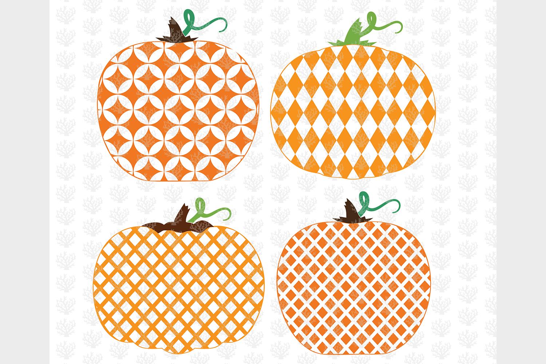 Big Halloween Bundle - 12 Decorative Pumpkin SVG EPS DXF PNG example image 3