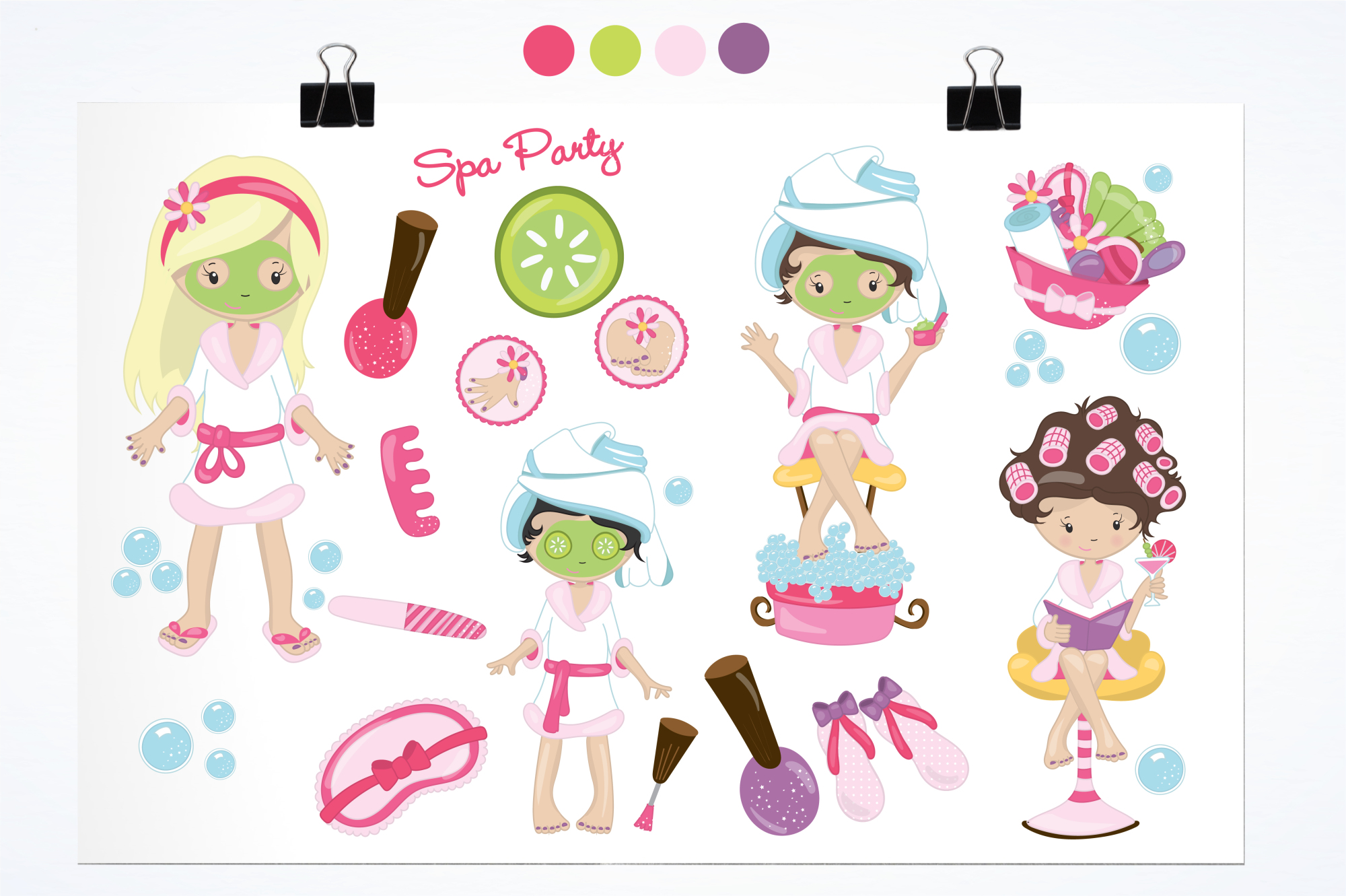 Spa Girls graphics and illustrations example image 2