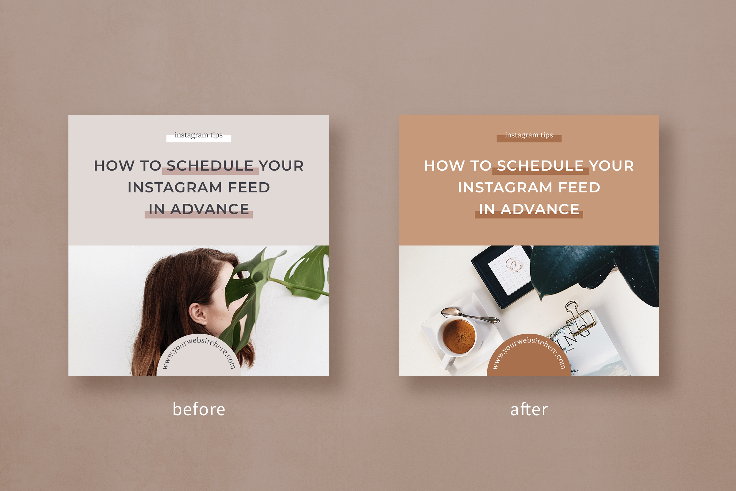 Instagram post template pack for bloggers example image 7