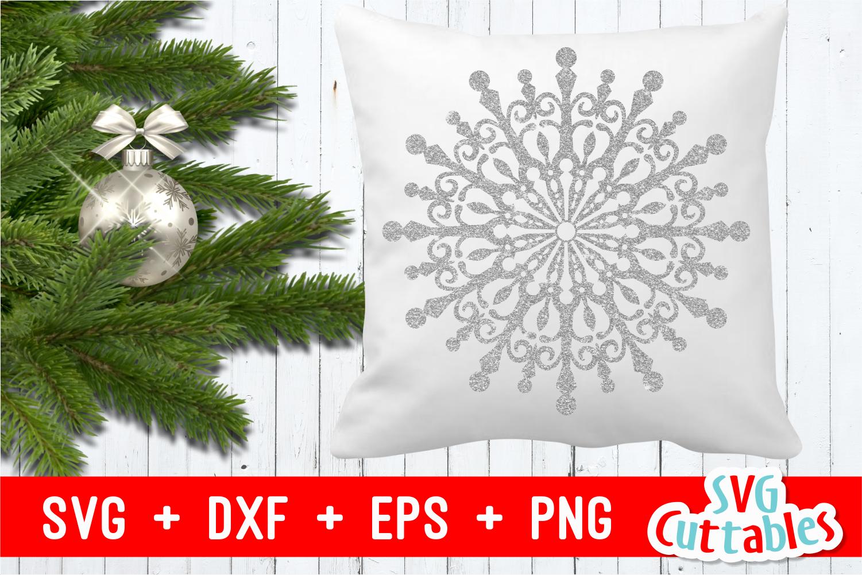 Snowflake Mandala | Christmas Cut File example image 1