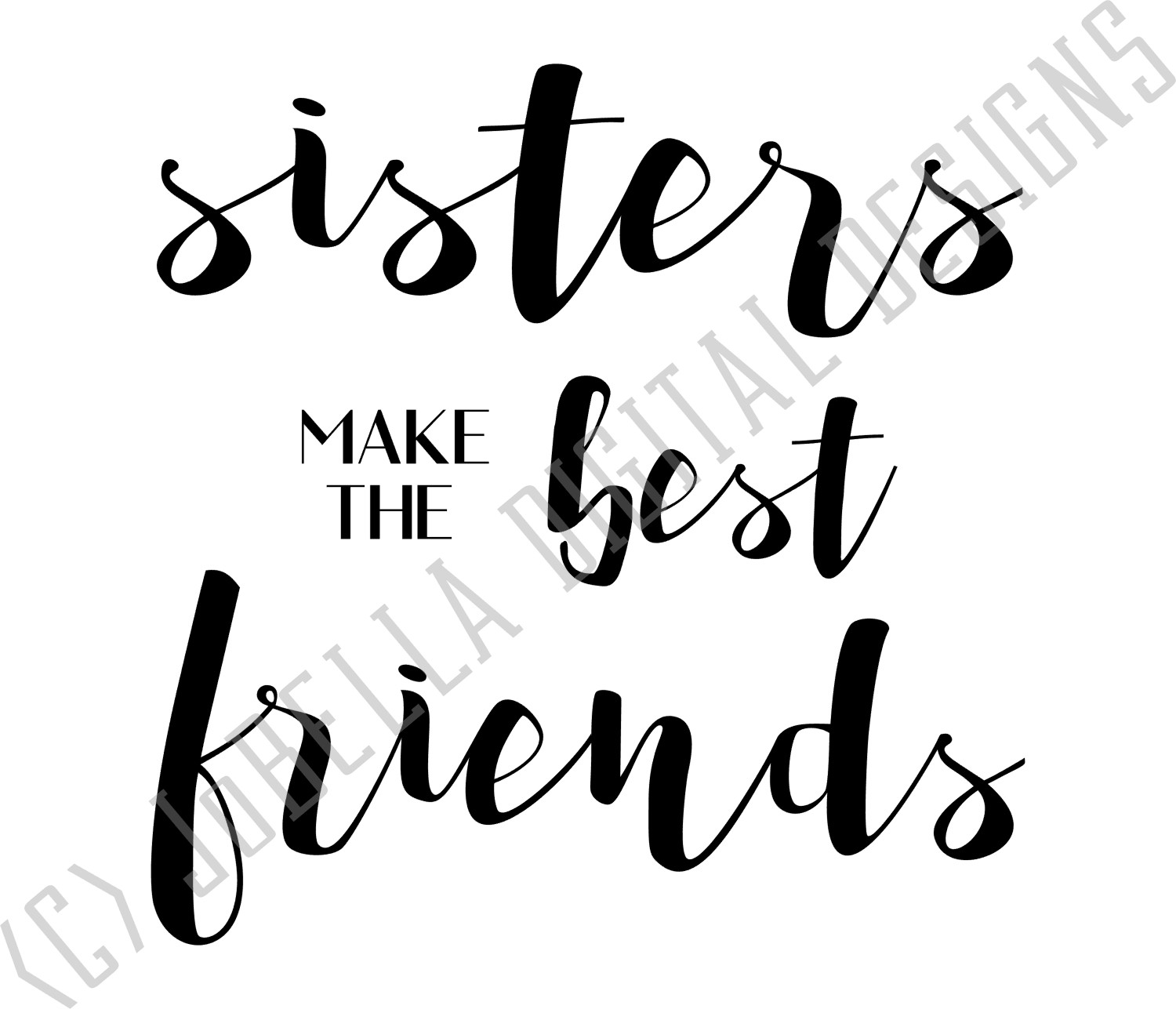 Sister SVG, Sublimation Design and Printable example image 2