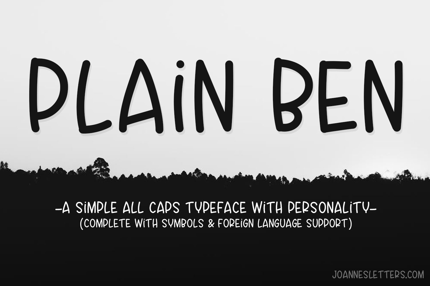 Plain Ben A Simple All Caps Typeface With Personality example image 1