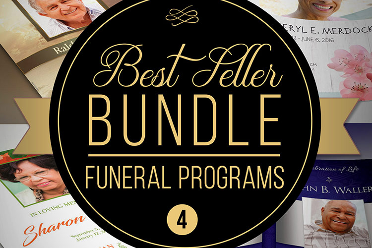 Best Seller Funeral Program Template Bundle example image 1