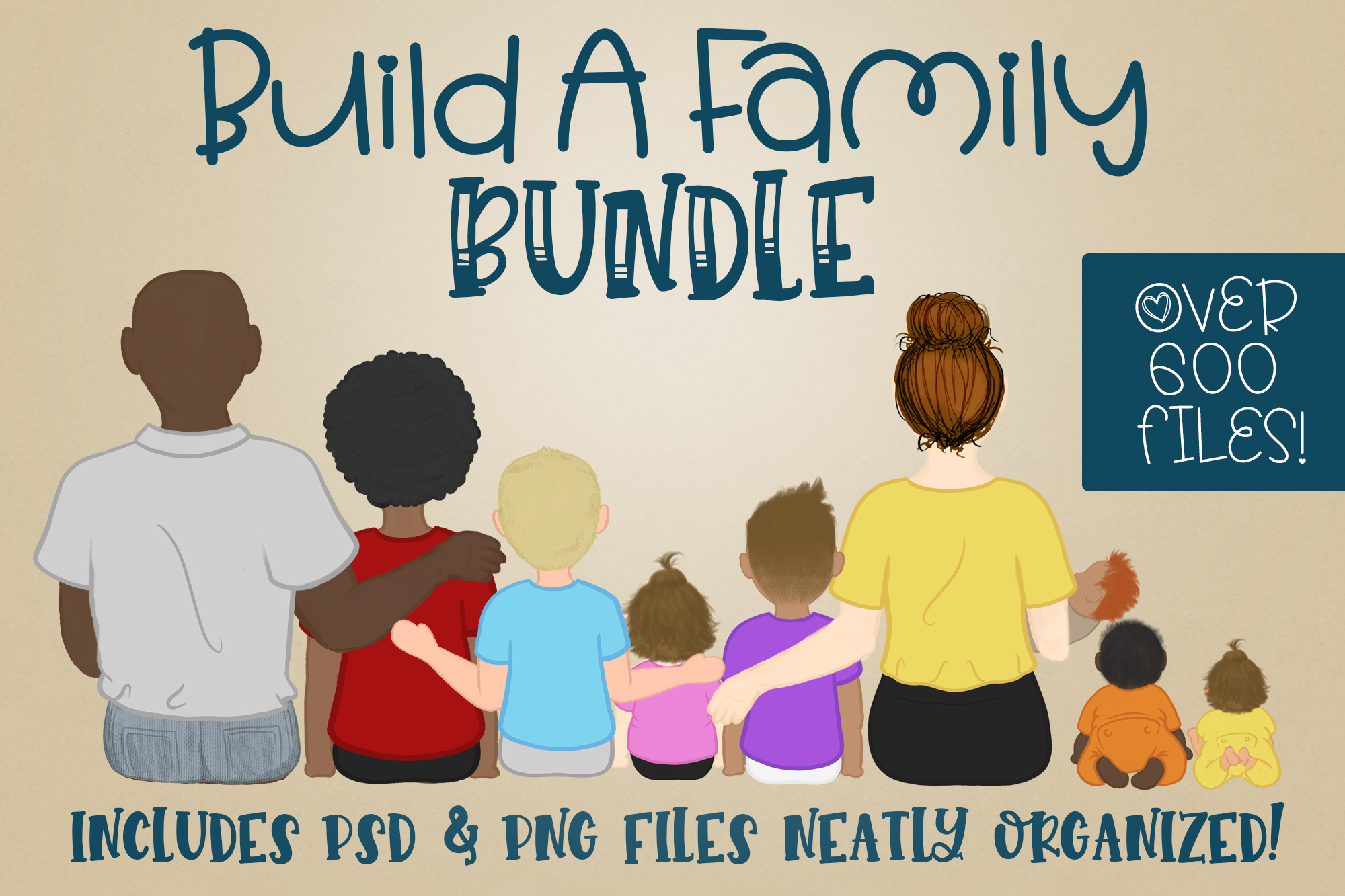 Build a Family  Character Builder   Family Builder PNG PSD example image 1