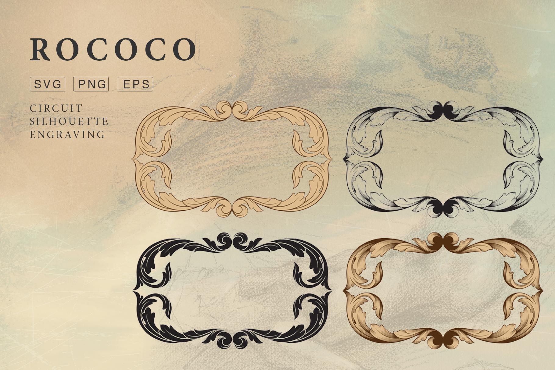 Rococo Romance Ornament page decor example image 12